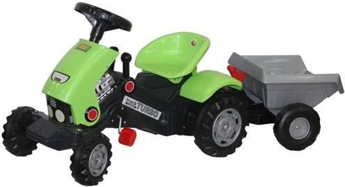 ПОЛЕСЬ Каталка трактор с педалями Turbo-2 с полуприцепом 52742