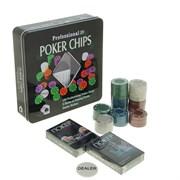 Набор для покера в мет. коробке 288707