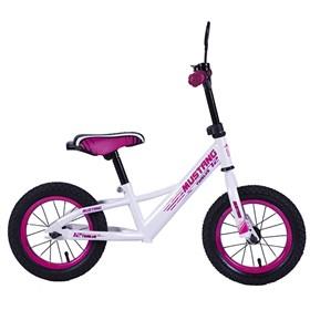 """MUSTANG Беговел с надувными колесами 12"""" цвет бело-розовый 239411"""