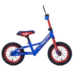 """MUSTANG Беговел с надувными колесами 12"""" цвет сине-красный 239412"""