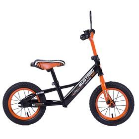 """MUSTANG Беговел с надувными колесами 12"""" цвет черно-оранжевый 239410"""