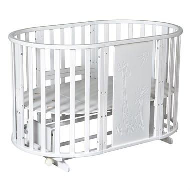 Кровать детская СЕВЕРЯНКА-3 ЖИРАФ 6в1 круг-овал